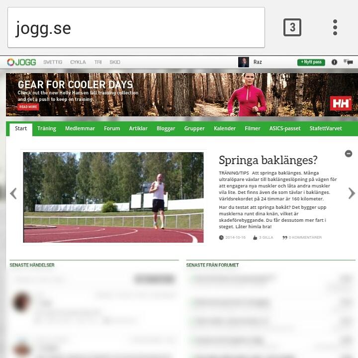 Jogg.se - Springa baklänges?